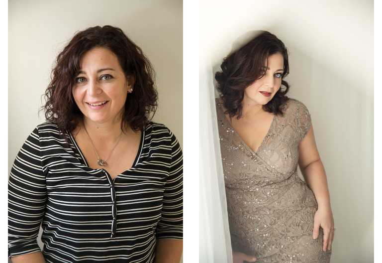 before and after images of glamour makeover photography