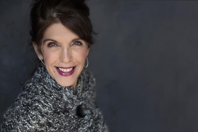 dark dress older women business portrait headshot glamor
